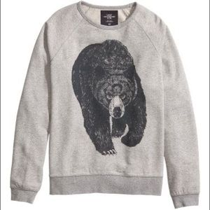 H&M oversized grizzly bear sweater